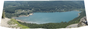 Rattlesnake Lake from above